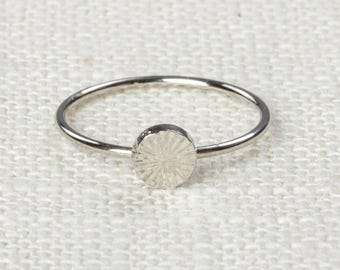 Circle Midi Vintage Ring Silver Knuckle Ring US Womens Sizes 7D