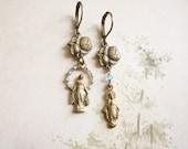Miraculous Medal Assemblage Earrings / Vintage Mary Medals / Vintage Repurposed Jewelry / OOAK