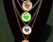 Mystic Messenger Heart Pendants