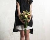 Black linen top for women, Black tank, Black summer top, Linen tunic, Black linen women's clothing byLHI