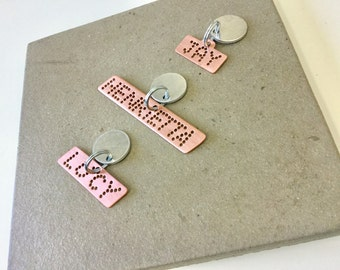 Unique pet ID tags for dogs rose pink
