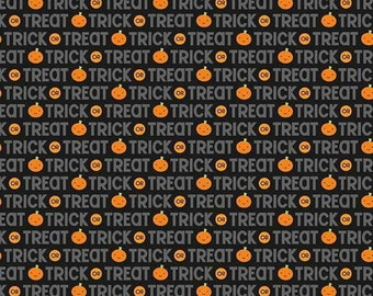 SALE, Ghouls and Goodies, C5302 Halloween Fabric by Doodlebug Design for Riley Blake, Sold By The 1/2 Yard
