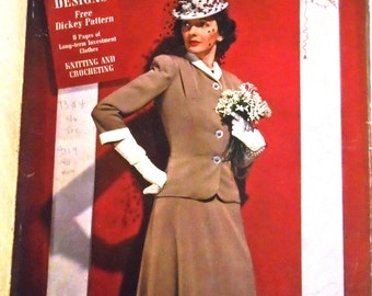 Vintage Vogue Pattern Book 1942 WWII Era Complete 25th Anniversary April-May 1942