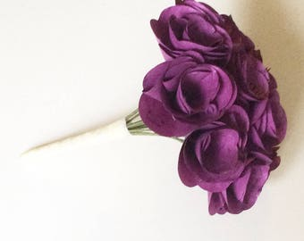 Color-Book Page Bouquet - Book Page Boutonniere -Book Bouquet -Book Flowers -Paper Roses -18 Paper Roses -Storybook Wedding (Item: TPG72B)