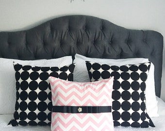 Pillow Cover In Dotscape Black, Throw Pillow, Available In  Different Sizes