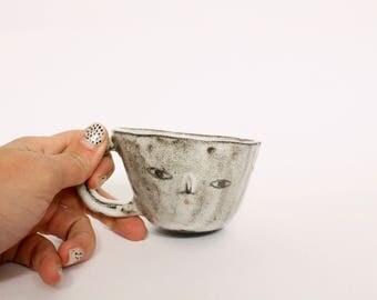 Primitive wonky double espresso cup