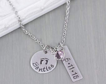 Personalized Jewelry - New Mom Gift - Mothers Jewelry - Baby Name Necklace - Personalized Necklace for Mom