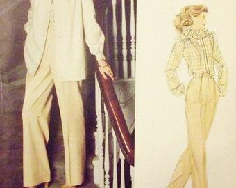 Vogue Pattern, American Designer, Sewing Pattern, Jacket Blouse Pants, Designer Don Sayres, Size 14, Vogue 2729, Uncut Pattern