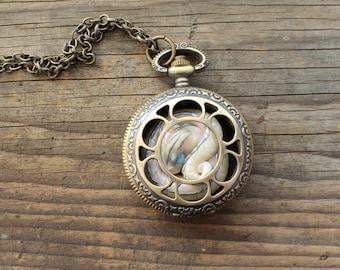 Glow in the Dark Dragon Pocket Watch