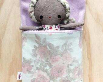 pastel doll sleeping bag
