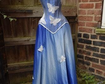 "Blue skies corset set (waist 24"")"