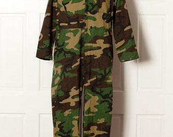 Vintage Full Body Camouflage Coveralls - ZERO ZONE - L
