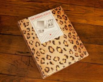 Vintage 80s 90s Leopard Print 4x6 Photo Album - 100 photos