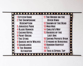 Personalised Cinema Sign Art Print