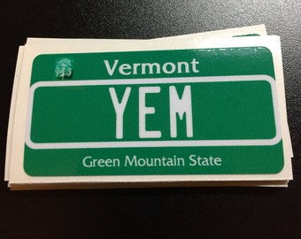 YEM Vermont Plate Phish Sticker