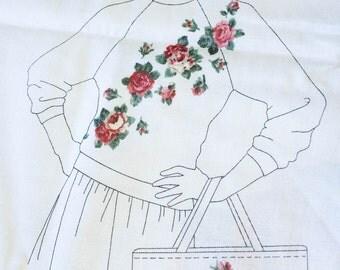 Roses, Fabric, Applique, Cut & Sew