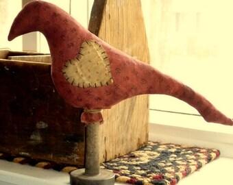 Primitive Red Bird Make-do