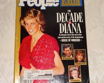 Vintage People Magazine Princess Diana Decade of Diana 1990 Collector's Edition Extra