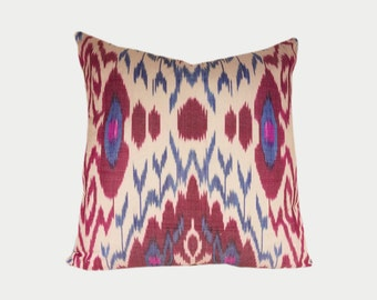 Ikat Pillow, Ikat Pillow Cover a402c, Ikat throw pillows, Designer pillows, Decorative pillows, Accent pillows