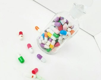 Secret Message Pills Pocket Letter Pal Supplies Tiny Stationery 5 Five Happy Mail
