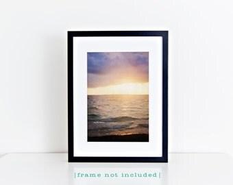Sunset Wave Vertical Photo, Stormy Sky Sea Ocean Beach Photography, Travel Art, Tropical Coastal House Decor, Nautical Home Decor Wall Art