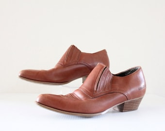 Vintage Durango Leather Ankle Boots Sz 8