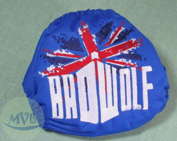 """Cloth Diaper Embroidery """"Bad Wolf"""""""