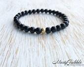 Black Onyx Bracelet, Black Bracelet, Gemstone Jewelry, Minimalist Jewelry, Simple Bracelet, Boho Bracelet, Vegan Bracelet, Beaded Bracelet