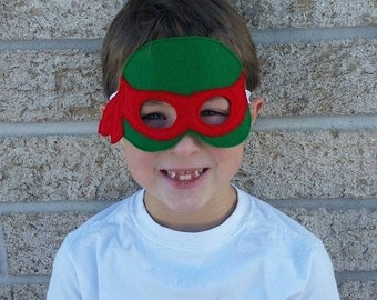 Felt Super Hero Mask - Teenage Mutant Ninja Turtles - Choose Color