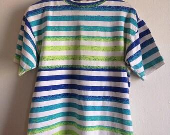 Striped Speckled Vintage Surf Rags T-Shirt