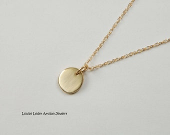 14K Gold Nugget Necklace Elegant Gold Necklace Minimal Gold Necklace Gold Nugget Charm Luxury Jewelry Organic Jewelry