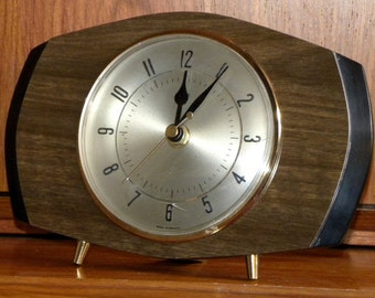 Metamec Clock Recycled Mantel Shelf