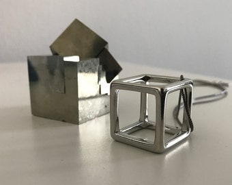 Cubiste - Cube Necklace - Sterling Silver