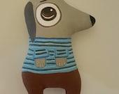 SALE,Dog,Softie,Doll,Toy,Art Cushion Doll,Folk Art Doll,Pillow,Animal Art,Plush Dog,Gift Idea,Primitive Art Doll,FAAP,HAFAIR, Artful Zeal