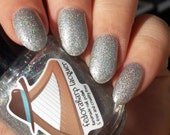 Sparkling clean (mini size & full size) Silver holo glitter indie polish by Fedoraharp Lacquer
