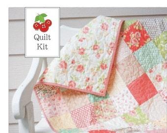 On Sale Strawberry Fields Baby Quilt Kit - Crib Quilt Kit - Lap Quilt Kit - Quilt Kit for Beginners - SFQK