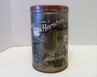 Shabby Milton S Hershey's Collectible round Tin # 1 in Series 1996 Building a Legacy