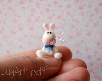 Leonard, a lovely needle felted bunny.