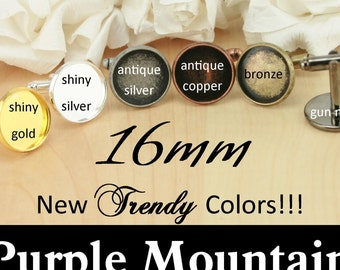 180 Cuff Links RECESSED Style 16mm Craft Kit - Optional 180 GLASS and 180 or 360 Seal Stickers, ...
