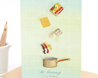 Mi Goreng - Recipe - Greeting card