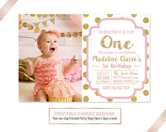 1st birthday invitation girl | Etsy