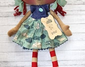 The Rain Won't Last Forever Cloudy Annie - Primitive Raggedy Ann Doll