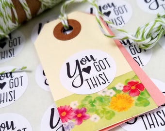 You got this stickers - 1 inch circles - motivational stickers - planner stickers