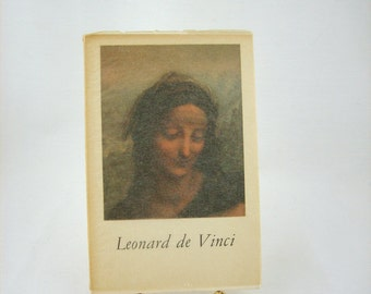 Vintage Leonardo de Vinci Art Book by Antonino Vallentin, 1950s, Published by Fernand Hazan Paris