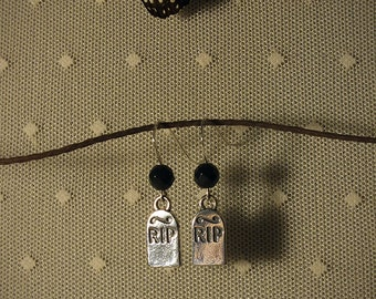 Rites #2 - Sterling Silver Headstones & Faceted Onyx