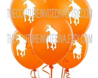 Polo Prince Balloons |  Polo Balloons | Polo Player Balloons | Horseman Balloons  | Orange | Green | Red |  Blue