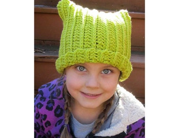 Crochet Cat Ear Hat DIGITAL Download Pattern / Cat Ear Hat Pattern for 2 to 5 year old / Childrens Pussy Cat Ear Hat Pattern / Kitty Cat Hat