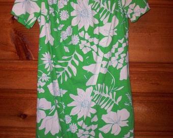 HAWAIIAN BEACH DRESS Muumuu Ladies Summer Tiki Tropical Hawaii Costume