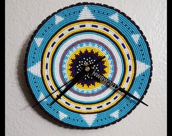 Beadwork Wall Clock