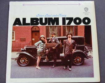"""Peter Paul and Mary - Album 1700 - """"I Dig Rock & Roll Music """" - """"Leaving On a Jet Plane"""" - Warner Bros W7 1968 Re-Issue - Vinyl Record Album"""